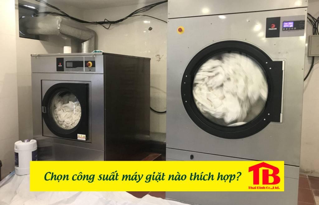 chọn mua máy giặt công nghiệp công suất thích hợp